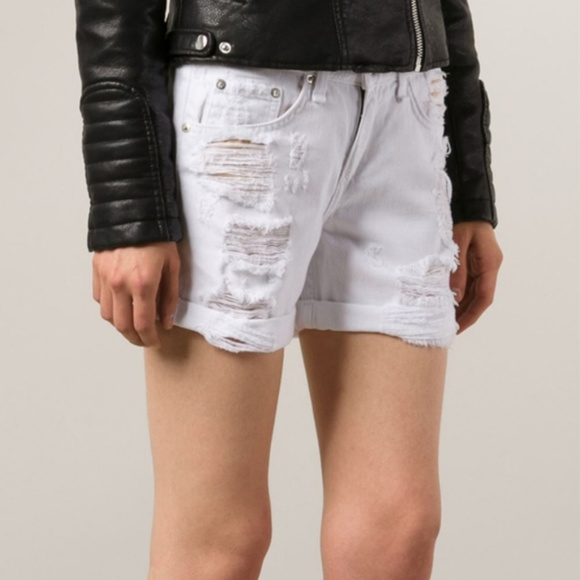 c80107b13e rag & bone Shorts | Rag Bone Distressed White Denim 24 | Poshmark